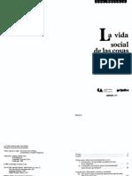 Appadura Arjuni - La Vida Social de Las Cosas