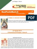 27 Aprile 2014 - II Domenica Di Pasqua - Anno A