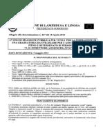 Avviso Di Selezione e Schema Di Domanda n. 01 Istuttore Amministrativo Cat. c