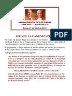 Canonización de los Papas Juan XXIII y Juan Pablo II