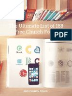 The Ultimate List of 188 Free Church Fonts
