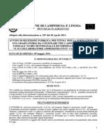 Avviso Di Selezione e Schema Di Domanda n. 01 Collaboratore Amministrativo Cat. b - Settore 2