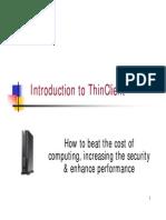 Thin Client Presentation