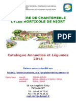 Catalogue Annuelles Légumes Chantemerle