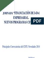 Principales Convocatorias del CDTI para 2014