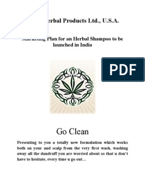 Termpaper on Marketing Plan for an Herbal Shampoo | Shampoo
