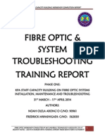 Fibre Optic Training Completion Report