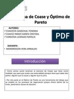 """Teorema de Coase y Ã""""Ptimo de Pareto"""