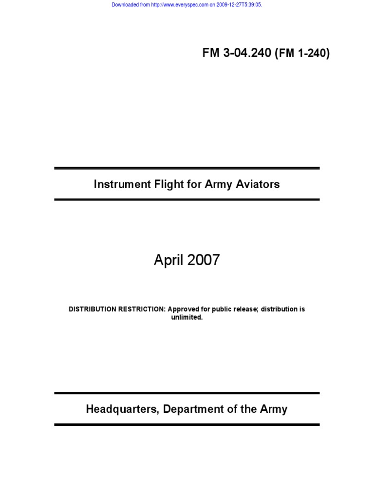 Fm 3 04240 1 240 Instrument Flight For Army Aviators April Crystalcontrolled Audio Generator Circuit Diagram Tradeoficcom 2007 Air Traffic Control Aviation Safety