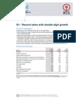 MTG - hospodářské výsledky za 1. čtvrtletí 2014