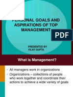 Personal Goals and Aspirations of Top Management