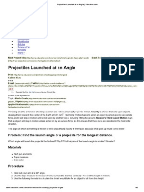 Projectiles Launched at an Angle _ Education | Gravity | Force