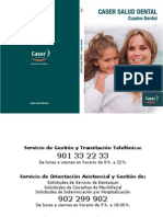 Cuadro Medico Caser Salud Dental 2014