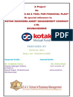 Project on Kotak Mutual fund