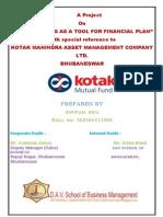 Project on Kotak Mutual fund