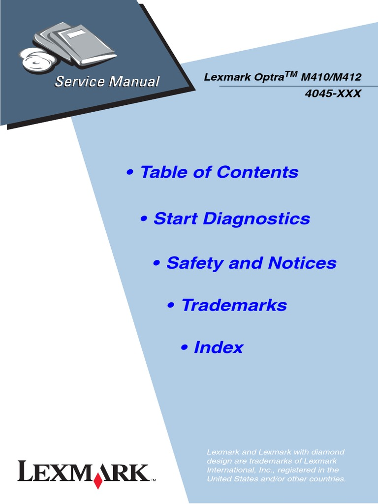 lexmark optra m410 m412 printer service manual