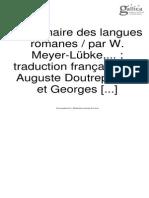 Meyer-Lubke,Grammaire des langues romains