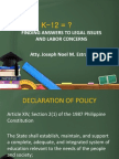 Labor Implications Kto12