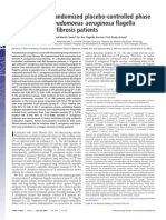 A Double-blind Randomized Placebo-controlled Phase III Study of a Pseudomonas Aeruginosa Flagella Vaccine in Cystic Fibrosis Patients