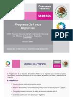 Programa 3x1 para Migrantes SEDESOL