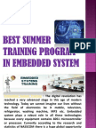 Industrial Training in Embedded System