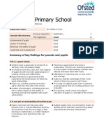 Ofsted report into St Helens Primary School, Isle of Wight.