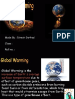 Global Warming Ppt Made by Dinesh Garhwal