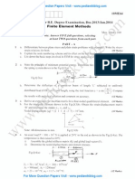 Finite Element Methods Jan 2014