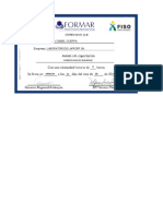 Certificado Inspecciones de Seguridad