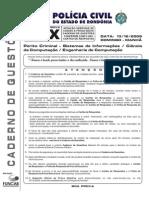 Funcab 2009 Pc Ro Perito Criminal Sistemas de Informacoes Ciencia Da Computacao x Prova