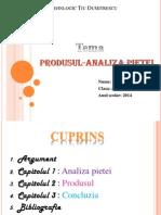 Produsul-Analiza pietei