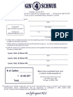 Lunch, Golf, & Dinner Registration Form