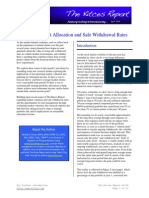 "April 2009 Issue of The Kitces Report on ""Dynamic Asset Allocation and Safe Withdrawal Rates"""