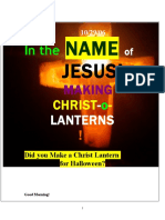 10/29/06 IN the NAME of JESUS, MAKING CHRIST-O-LANTERNS, by vanderKOK