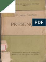 'Presenças' by Otto Maria Carpeaux