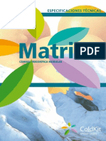 ColdKit Especificaciones Técnicas de Matrix Cámara Frigorífica Modular