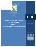 VUP Gender Equity Assessment Report.final
