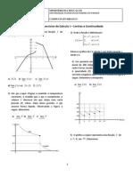 Exercicio Calculo I - Limites e Continuidade
