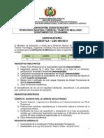 CDO 080 CBBA Tecnológ. Indust. Comercial Puerto de Mejillones