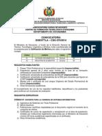 CDO 079 CBBA Centro de Formación Tecnológico Eterazama