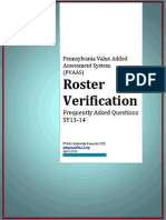PVAAS 014 FAQ Roster Verification