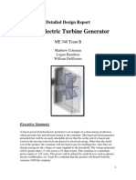 Hydroelectric Turbine Generator Detailed Design Report