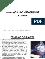 Tamaño y Localizacion de Planta
