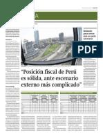 Posición Fiscal de Perú Es Sólida_Gestión 25-04-2014