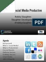 Making Social Media Productive