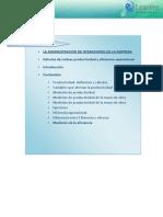 Cálculos de Índices Productividad y Eficiencia Operacional