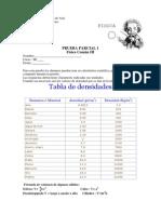 Prueba Parcial Densidad 2014