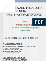 Strikes and Lockouts in INDIA Ppt