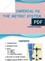 the imperial vs the metric system