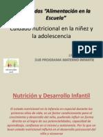 Cuidado Nutricional en La Niez y La Adolescencia